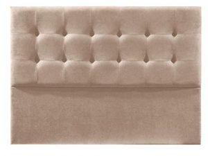 Cabecero de Cama tapizado en Tela Nido. Altura 120cm. Color Beige. para Cama de 135 (Medidas 145x120x8) Pro Elite. 8