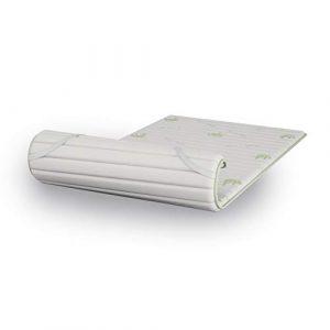 Sobrecolchón con tejido Aloe H2 cm de Visco Memory Foam efecto suave colchón, 110 x 190 cm 6