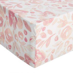 AmazonBasics - Sábana ajustable de microfibra premium (150 x 200 cm), rosa acuarela 7