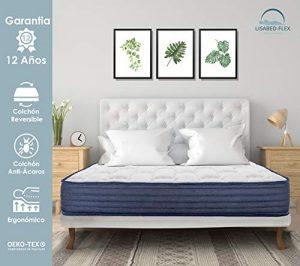 Lisabed Flex | Colchón Viscoconfort 135 x 190 cm | Viscoelástico Alta Densidad | Reversible (Invierno/Verano) | Gama Grand Confort | 20 cm (+/- 2 cm) | Todas Las Medidas 5