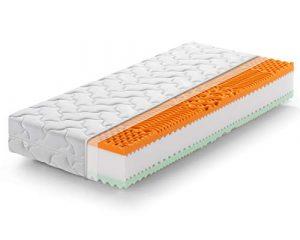Marcapiuma - Colchón viscoelástico Individual Memory Bio 90x190 Alto 22 cm - Rainbow Plus - H3 Firme 5 Zonas Producto Sanitario CE Funda desenfundable Silver Antiácaros 100% Fabricado en Italia 8