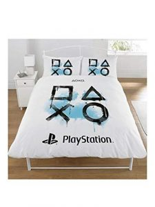 Sony Playstation - Juego de Funda nórdica, algodón poliéster, Blanco, King Size 6