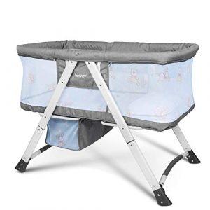 Besrey Cuna para bebé Cunas 2 en 1 Cunas de viaje Cunas plegables - Gris 4