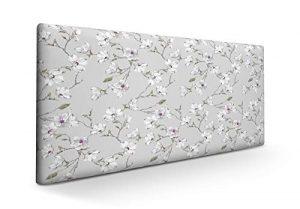SUENOSZZZ-ESPECIALISTAS DEL DESCANSO Cabecero tapizado para Camas de 90 (100 x 57 cm) en Tela Motivo Estampado Izumi Floral 6