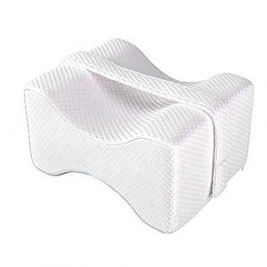Breive Almohada Rodillas Ortopedica Para Dormir Espuma Foam Con Memoria Cojin Piernas Dormir de Lado Leg Pillow Latex Antiacaros Hipoalergenico Ergonomico Almohadas para Ciática Dolor Lumbar Embarazo 3