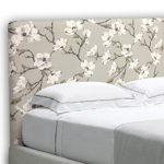 SUENOSZZZ-ESPECIALISTAS DEL DESCANSO Cabecero tapizado para Camas de 135 (145 x 120 cm) en Tela Motivo Estampado Izumi Floral 16