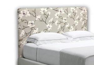 SUENOSZZZ-ESPECIALISTAS DEL DESCANSO Cabecero tapizado para Camas de 135 (145 x 120 cm) en Tela Motivo Estampado Izumi Floral 1