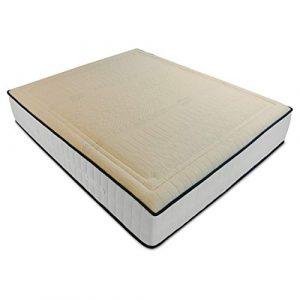 Baldiflex Colchón 140x190 cm Memory Cotton con Espuma viscoelástica, Látex. Tejido de Algodón Anti-acaros. Funda extraíble y Lavable. Altura 18 cm. 1