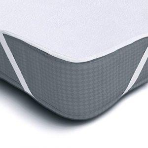 Protector de Colchón Impermeable Melunda | 90 x 200 cm | Capa superior de algodón transpirable con esquinas elásticas| Hipoalergénico y Antibacteriano | Oeko-TEX® Standard 100 5
