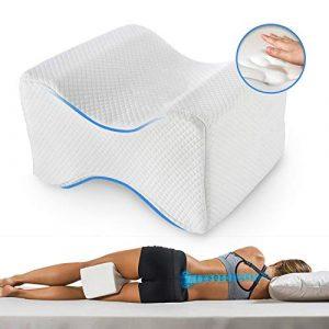 Almohadas piernas para dormir, Cojín ortopédico para almohada con de memoria para durmientes de lado, Almohada de apoyo para la rodilla para ciático Pierna dolor de espalda de cadera Alivio 5