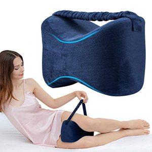 Almohadas para piernas con Correa, Almohadas para Dormir con de Memoria para durmientes de Lado, Almohada para la Rodilla para el Embarazo Pierna Cadera 4
