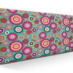 SUENOSZZZ-ESPECIALISTAS DEL DESCANSO Cabecero tapizado para Camas de 90 (100 x 57 cm) en Tela Motivo Estampado Mandala Turquesa 13