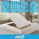 Canapé abatible Wood de Home Medida 135x180 cm Color Blanco 18