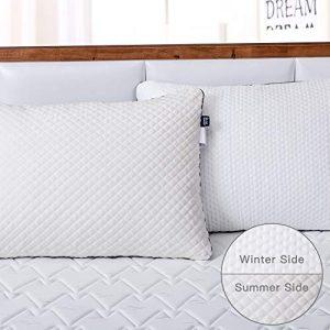 BedStory Pack de 2 Almohadas y Funda Desmontable con Cierre de Cremallera con Doble Lados Invierno/Verano, Almohada 70x42 cm con Relleno 3D y 7D Fibra, Almohadas Antiácaros para de Cama Hotel 3