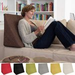 La Almohada Tipo Cuña increíble - para Su Sala De Estar o Su Recamara, Almohada para Leer con Un Sentado Relajado Diseño De Moda (Marrón) 14