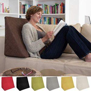 La Almohada Tipo Cuña increíble - para Su Sala De Estar o Su Recamara, Almohada para Leer con Un Sentado Relajado Diseño De Moda (Marrón) 7