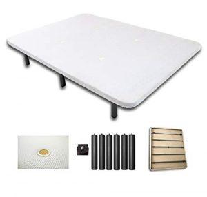 Duermete Base Tapizada 3D Reforzada 5 Barras de Refuerzo y Válvulas de Ventilación + 6 Patas, Color Blanco, 135x180 8