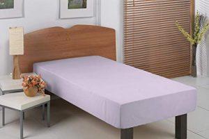 PimpamTex – Sábanas Bajeras Ajustables 100% Algodón para Cama de 105 – (105x200 cm, Malva) 8