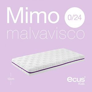Ecus Kids, colchón cuna antiaxfisia con visco y extractos de malva - Mimo Malva Visco, 120X60X12 5