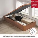 PIKOLIN, canapé abatible Gran Capacidad de almacenaje Color Cerezo 90x200, Servicio de Entrega Premium Incluido 11
