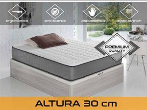 Dormi Premium Elax 30 - Colchón Viscoelástico, 140 x 200 x 30 cm, Algodón/Poliuretano, Blanco/Gris, Matrimonio 8