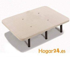 HOGAR24 Base TAPIZADA + 6 Patas DE Metal con Tejido 3D Y VÁLVULAS DE TRANSPIRACIÓN-80x190cm-PATAS 26CM 9