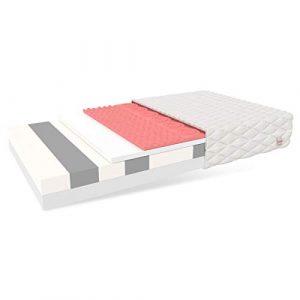 FDM Rovigo - Colchón de Espuma viscoelástica de 7 Zonas (120 x 200 cm, dureza H3, Doble Cara, HR, Poliuretano, poliéster) 1