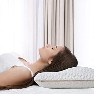BedStory Almohada Viscoelastica Gel 60x40cm, Almohada Cervical con Funda Desmontable y Lavable, Reduce Dolores Cervicales, Adecuada para Todas Posicións para Dormir 10