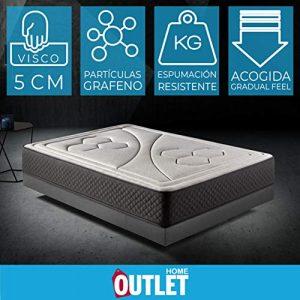 HOME Colchón 135x190cm Viscoelastico Memory Vex Foam 27cm Altura, 5cm viscoprogresion Grafeno 1