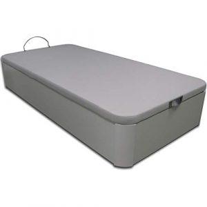 Ventadecolchones - Canapé Abatible de Madera - Gran Capacidad Madera Blanca Medidas 90 x 190 cm 3