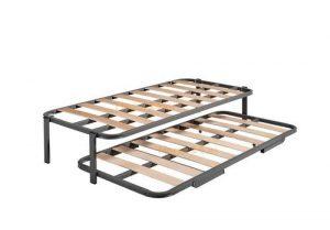 Hogar 24 Cama Nido con 2 Somieres, Estructura Reforzada Doble Barra Superior + Patas, 80x200cm 7