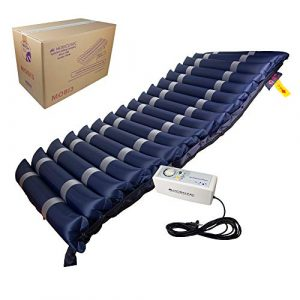 Mobiclinic, Mobi 3, Colchón antiescaras de aire alternante, con motor compresor, para escaras de Grado I, II y III, TPU Nylon, 200 x 80 x 12.8, 17 celdas, color Azul 2