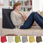 La Almohada Tipo Cuña increíble - para Su Sala De Estar o Su Recamara, Almohada para Leer con Un Sentado Relajado Diseño De Moda (Negro) 16
