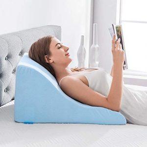 NOFFA Almohadas de lectura - Almohada de cuña de Espuma viscoelástica Apoyo de Espalda Mientras se relaja, Juega, Lectura o Viendo la televisión 8