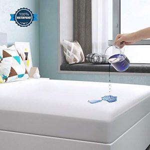 Yoofoss Protector de Colchón Impermeable Cubrecolchón 90x190/200cm Ultra Suave y Transpirable 100% Tencel Hipoalergénico & Anti-Ácaros 5