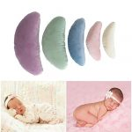 Tee-Moo 5 piezas de accesorios para fotografía de bebé recién nacido, posando media luna posando almohada relleno de seda accesorios Multicolor 13