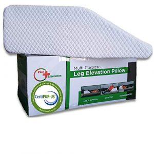 Almohada de Elevacion de la Pierna Hecha de Espuma de Memoria de Enfriamiento Envuelta en Una Cubierta Blanca Suave, Tambien Se Puede Usar Como Almohada de Reflujo Acido 7