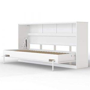 SMARTBett Basic Cama abatible Cama Plegable Cama de Pared (Blanco, 90 x 200 cm Horizontal) 7