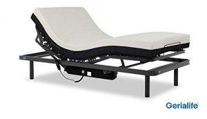 Gerialife® Cama articulada con colchón ortopédico viscoelástico 20 cm. (105x190, Gris Grafito) 6