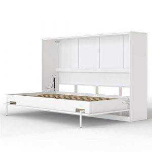 SMARTBett Basic Cama abatible Cama Plegable Cama de Pared (Blanco, 120 x 200 cm Horizontal) 9