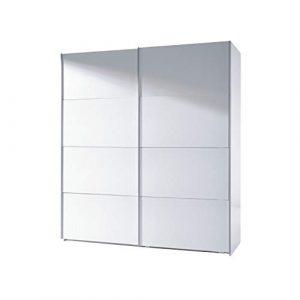 Habitdesign ARC180BO - Armario Dos Puertas correderas, Armario Dormitorio Acabado en Color Blanco Brillo, Medidas: 180 (Largo) x 200 (Alto) x 63 cm (Fondo) 10