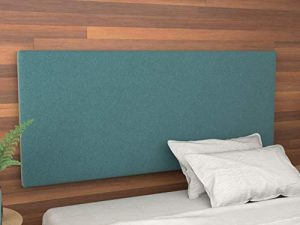 LA WEB DEL COLCHON - Cabecero tapizado Paros para Cama de 150 (160 x 70 cms) Turquesa Textil Suave | Cama Juvenil | Cama Matrimonio | Cabezal Cama | 4