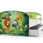 Interbeds Cama Individual LUKI - Blanco,160X80, con cajón, somier y colchón de Espuma Gratis! (Jungle) 16