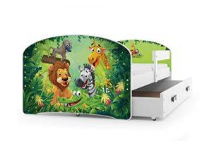 Interbeds Cama Individual LUKI - Blanco,160X80, con cajón, somier y colchón de Espuma Gratis! (Jungle) 10