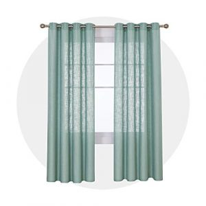 Deconovo Cortinas Salon Modernas Dormitorio con Ojales 140x260cm Verde 3