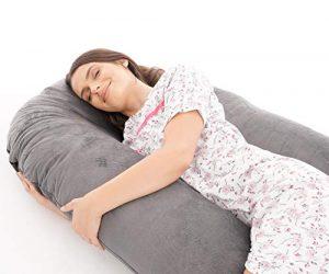 SnuggleUpTM - Almohada de embarazo en forma de U, almohada de maternidad, almohada de apoyo de cuerpo completo con funda extraíble y lavable 7