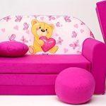 Pro Cosmo H3 - Sofá Cama para niñoscon puf, reposapiés y cojín, de Tela, Multicolor (168x 98x 60cm) 20