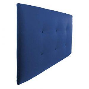 Silcar Home   Cabecero Cama tapizado en Polipiel Modelo Carlo   Medidas 105cm, 115cm, 145cm o 160cm, Acolchado, Transporte Incluido, Anclajes Incluidos. (Azul, 105) 1