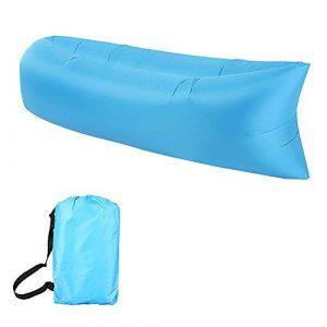 Sofa Hinchable Anti-Air Leaking Sofa Inflable Impermeable Tumbona Hinchable con el Paquete Portable para Viajar, Acampar, Jardín, Senderismo, Piscina y Partidos de la Playa 8
