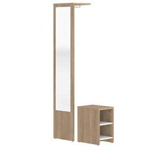 Marca Amazon -Movian Deva - Mueble para el recibidor, 40 x 33 x 188cm (largo x ancho x alto), roble 4